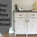 Painting Furniture White Washed Cabinet Crafting Green