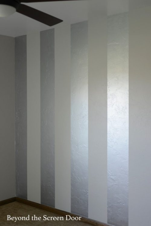 Painting Gold Silver Metallic Stripes Sonya Hamilton