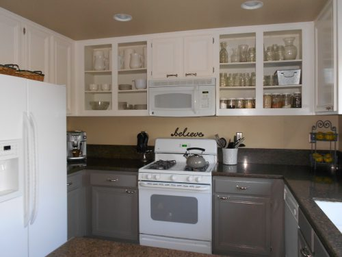 Painting Kitchen Cabinets White Before After