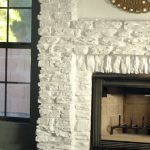 Painting Our Faux Stone Fireplace Little Green