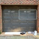 Painting Our Garage Doors Richer Deeper Color Young House