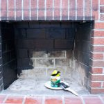 Painting Our Red Brick Fireplace White