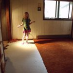 Painting Particle Board Floor Other Items Cabin