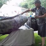 Painting Seaeagle Inflatable Boat Camouflage
