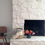 Painting Stone Fireplace White Greige