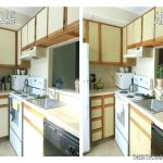 Painting White Melamine Cabinets Oak Trim
