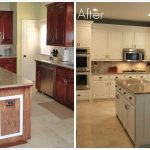 Painting Wood Cabinets Before After