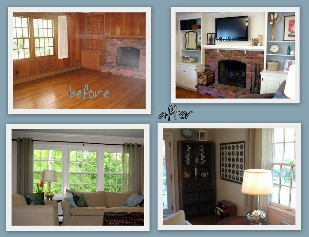 Painting Wood Paneling Before After Best House Design