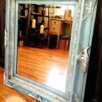 Painting Wooden Mirror Frame Mirrors Medium Paint