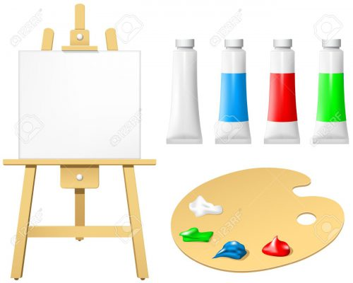 Palette Clipart Paint Board Pencil