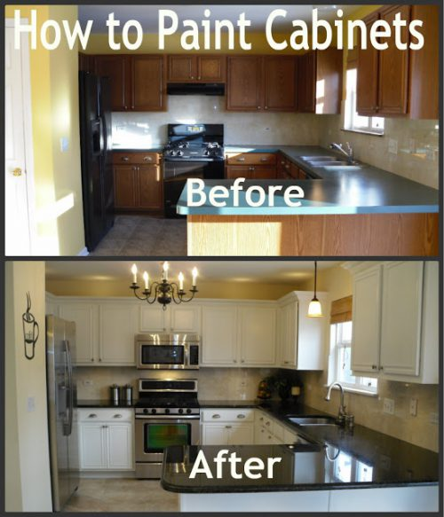 Parents Dozen Paint Cabinets Love These Improved Kitchens Bathrooms