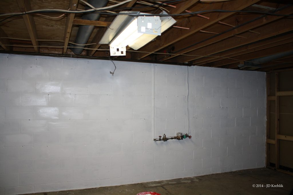 Part Painting Our Basement Walls Don Suppress