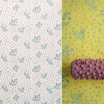 Patterned Paint Rollers Create Classic Via Painting Design