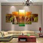 Pcs Large Modern Hand Painted Art Oil Painting Wall Decor Canvas Framed