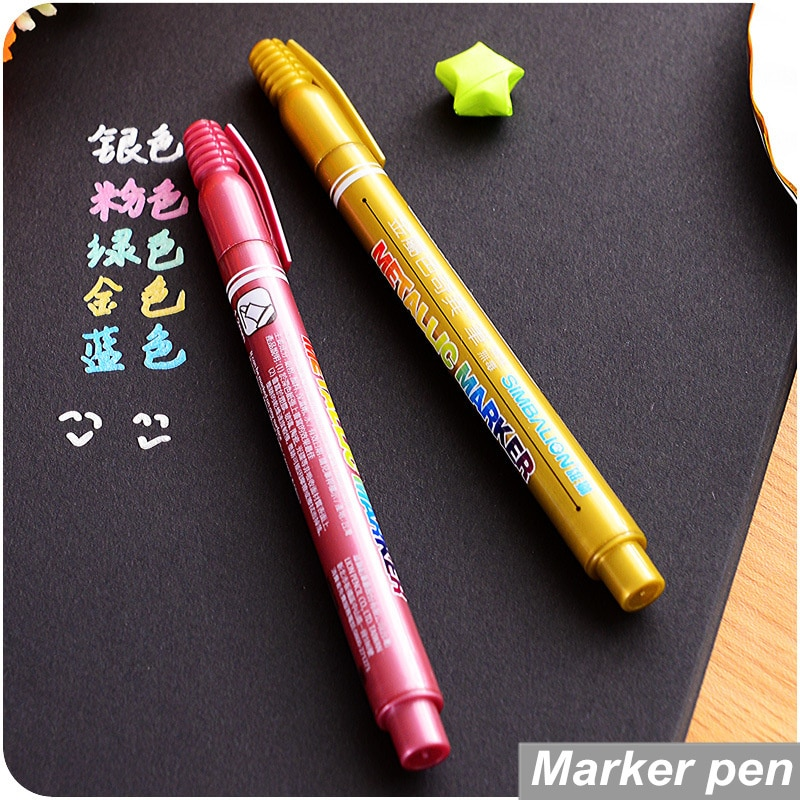 Pcs Lot High Quality Metallic Markers Paint Marker Ceramic Glass Wood Paper