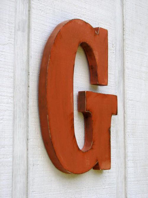 Personalized Rustic Wooden Letters Distressed Painted