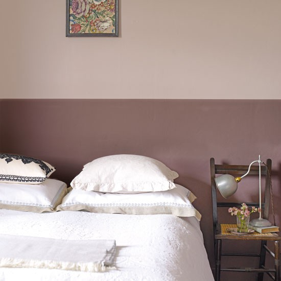 Pink Silver Bedroom Ideas Two Tone Paint