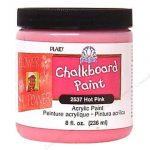 Plaid Folkart Chalkboard Paint Hot Pink