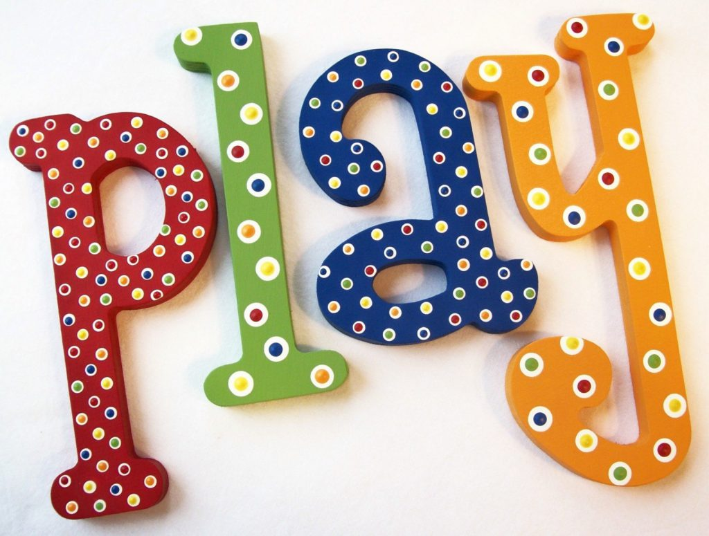 Play Hand Painted Decorative Wooden Letters Priced
