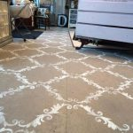 Plywood Floor Stenciled Chalk Paint