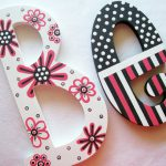 Posh Pink Hand Painted Wooden Letters Reserved