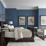 Pretty Blue Color White Crown Molding Home Pinterest Bedroom