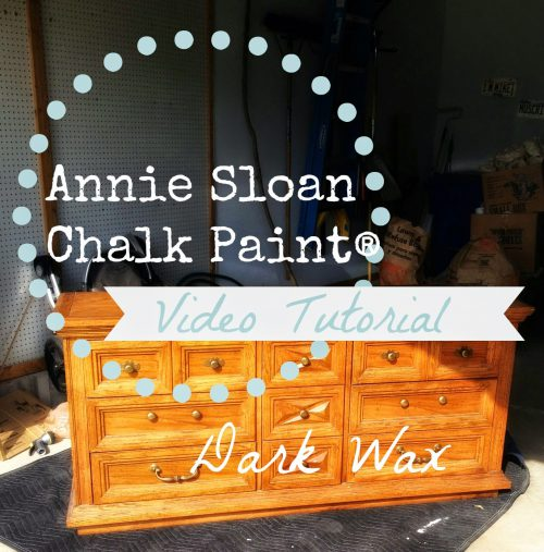 Pretty Distressed Annie Sloan Chalk Paint Video Tutorial Dark