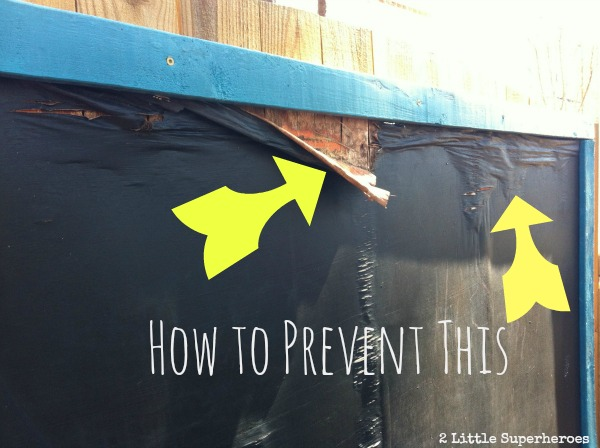 Prevent Your Outdoor Chalkboard Rotting Little