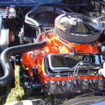 Project Ceramic Chevy Orange Engine