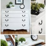 Pure White Chalk Paint Buffet Makeover Salvaged