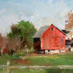 Qiang Huang Daily Painter Red Barn