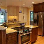 Raleigh Kitchen Remodel Cozy Mix Paint Stained Cabinetry
