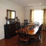 Recessed Lighting Over Dining Room Table Best Way Paint Wood