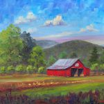 Red Barn Fruitland Painting Jeff