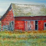Red Barn Painting Lynne