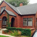 Red Brick House Siding Exterior Paint Color White