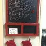Red Chalkboard Paint Fabric Menu Board Crafted
