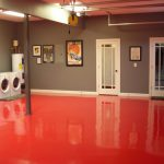 Red Epoxy Basement Floor Paint Ideas Flooring Design