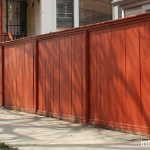 Red Painted Fence Simple Wood Designs Next Garden
