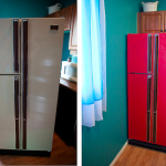 Red Refrigerator Diy Project
