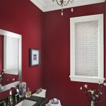 Red Wall Color White Window Shutter Classic Ceiling Paint Wonderful Bathroom