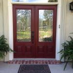 Refinished Fiberglass Door Coats Annie Sloan Chalk Paint Primer Red Clear Wax