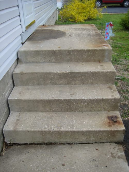 Refinishing Concrete Steps Doityourself Community
