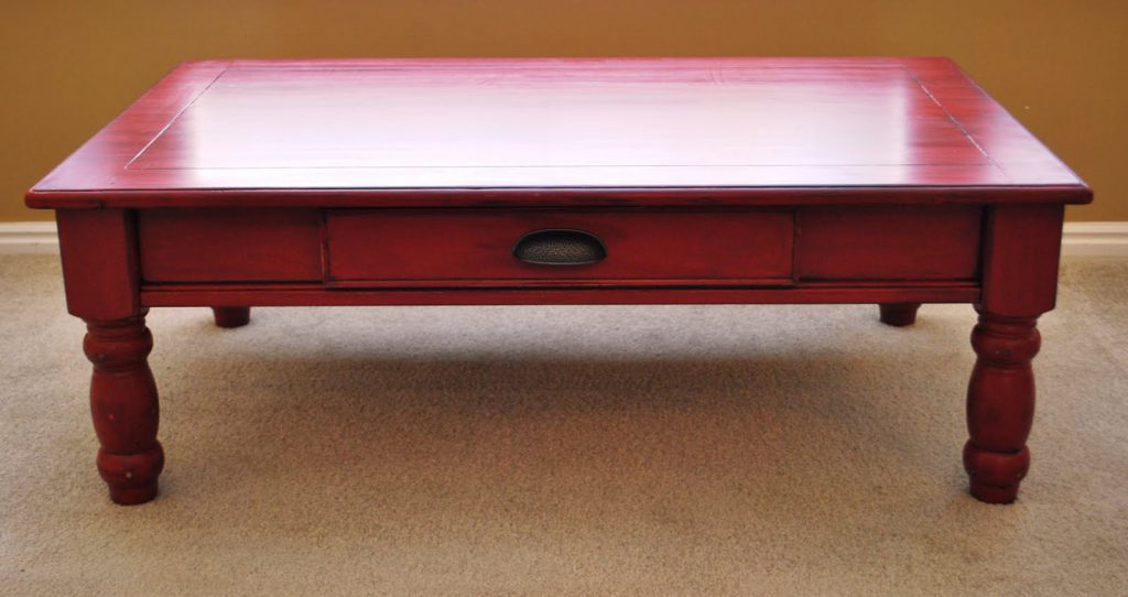 Refurnishings Red Coffee Table Privately