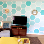 Remodelaholic Diy Ombre Painted Hexagon Accent