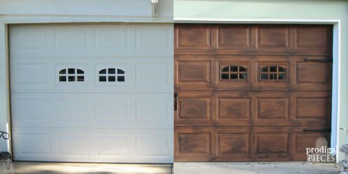 Remodelaholic Faux Wood Carriage Garage Door