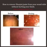 Remove Sharpie Paint Off Your Wood Table Without Ruining Finish