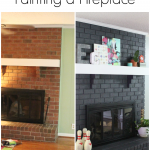 Result Painted Brick Fireplace Before After