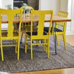 Round Painted Dining Room Chairs