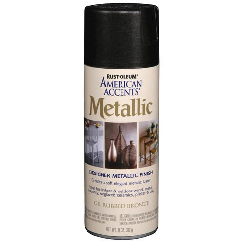 Rust Oleum American Accents Metallic Oil Rubbed Bronze Spray Paint